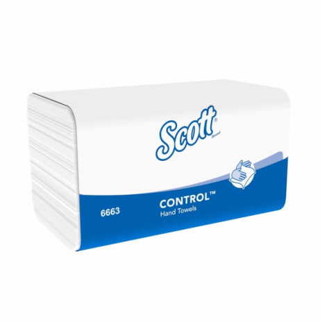 Бумажные полотенца в пачках Scott Performance белые однослойные (15 пачек по 212 листов), арт.6663, Kimberly-Clark