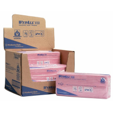 Салфетки в пачке с цветным кодированием Wypall Х50, 50 листов 25х42 см, красный, арт. 7444