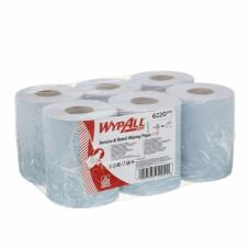 Протирочный материал в рулонах с центральной подачей WypAll Reach однослойный голубой (6 рулонов по 280 листов), арт.6220