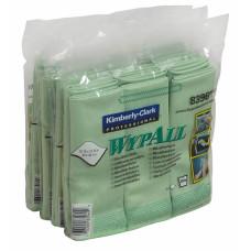 Салфетки из микрофибры Wypall Microfibre Cloth, 40 х 40 см, зеленые, арт. 8396