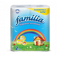 Полотенца бумажные Familia РАДУГА с тиснением и перфорацией, 2 слоя (2 шт/упак), арт. 5050455