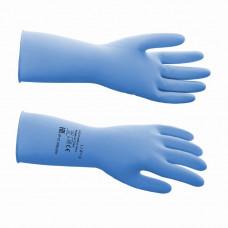 Перчатки латексные многоразовые синие, р-р L 0 (латекс 70%, добавки 30%; 320х120х4 мм)