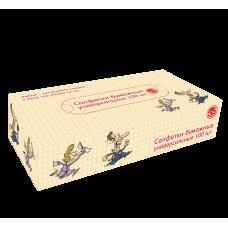 """Салфетки бумажные универсальные non-stop """"Любовь-это..."""", 100 лист/уп, (37 уп/кор), арт. 272081"""