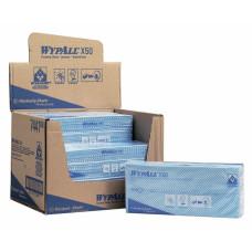 Салфетки в пачке с цветным кодированием Wypall Х50, 50 листов 25х42 см, синий, арт. 7441