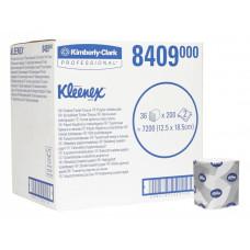 Туалетная бумага в пачках Kleenex Ultra, 200 листов, 13 х 19 х 9 см, 2 слоя, белая (36 шт/упак), арт. 8409