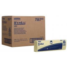 Салфетки в пачках с цветным кодированием Wypall Х80, 25 листов, лист 35х42 см, желтые, арт. 7567