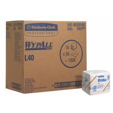 Салфетки в пачке Wypall L40, 56 листов 31х36 см, 1 слой, арт. 7471