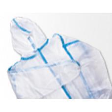 Комбинезон защитный одноразовый, закрытая молния, микропора, размер XL, шт., арт. micropo