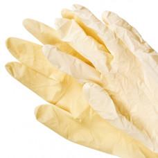 Перчатки латексные, гладкие, опудренные, L (100 шт/упак)