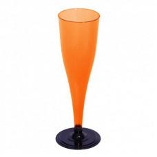 Фужер одноразовый для шампанского 170 мл оранжевый (6 шт/уп)