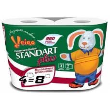 Туалетная бумага «Linia Veiro Standart Plus» 4, 2сл., 30м   (15 шт/упак), арт. 2202