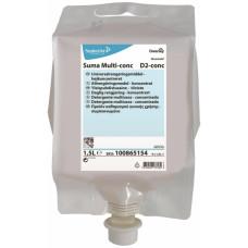 Высококонцентрированное универсальное моющее средство Suma Multi-conc D2 4х1,5 л. (100865155)