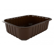 Лоток для еды одноразовый черный 280*225*35, ука (120 шт/упак)