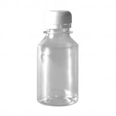 Бутылка пластиковая 250 мл прозрачный + пробка (100 шт/уп)