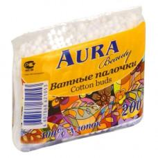 Ватные палочки «АУРА» 200шт., п/э, арт. 1183