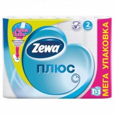 Туалетная бумага «Zewa Плюс» 12 рул., 2-х сл., белая, арт. 2407