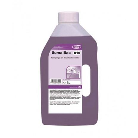 Suma Bac D10 Дезинфицирующее средство с моющим эффектом, 2 л, арт. 7519044, Diversey
