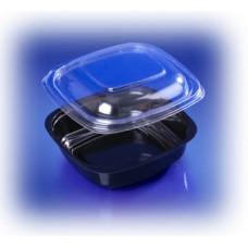 Контейнер для еды прямоугольный ИПКВ-250 черный Протек (1000 шт/упак)