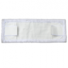 Моп микрофибра эконом, 40 см, белый (уши + карман), арт. 33M/1