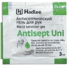 HADLEE Antisept Uni 3 мл саше (Антисепт Юни) антисептический гель для рук (100шт/уп) арт. 4207-с