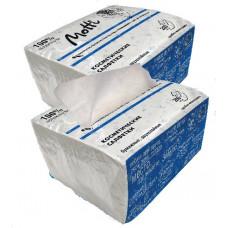 Салфетки косметические MOTTI 2-сл, 200 л., белые 17г/м.кв. 154200-Ц