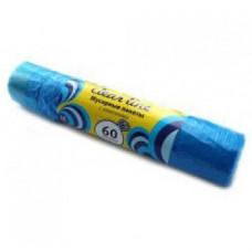 Мешки для мусора  с ЗАВЯЗКАМИ 60л. 10 шт. 60см*73см «CLEAR LINE» 15 мк