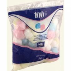 Ватные шарики косметические «Белла» 100шт., цветные, арт. 547