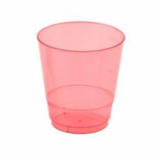 Стакан одноразовый 200 мл Кристалл красный ПС (50 шт/упак)