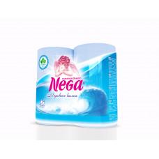 Туалетная бумага «НЕГА Арома» голубая Морская волна  4 рул., 2-х сл.  (12 шт/упак), арт. 1828