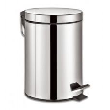 """Ведро-контейнер для мусора (урна) с педалью ЛАЙМА """"Classic"""", 12 л, зеркальное, нержавеющая сталь, 232261"""