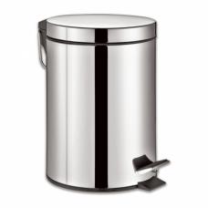 """Ведро-контейнер для мусора (урна) с педалью ЛАЙМА """"Classic"""", 20 л, зеркальное, нержавеющая сталь, 232262"""
