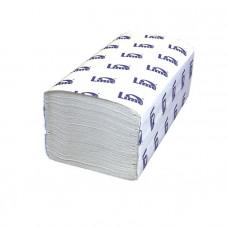 Полотенца бумажные V-укл, 1-сл, 200шт, 22.5*22.5см, шир.11.5см, светло-серые 40г/м.кв. 20 упак/кор. (261355-М)