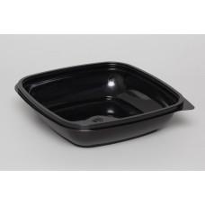 Лоток для еды одноразовый черный 187х137х37 (50), ука (320 шт/упак)