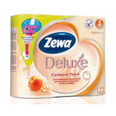 Туалетная бумага «Zewa Delux» 4 рул., 3-х сл., Персик аромат Персика, арт. 2142