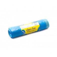 Мешки  для мусора  с ЗАВЯЗКАМИ 120л, 10шт., «CLEAR LINE»(рулон)