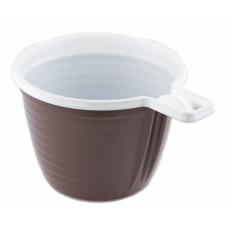 Чашка одноразовая 180 мл для кофе коричнево-белая ПП (50 шт/упак)