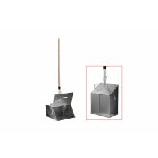 Совок-ловушка оцинкованный с деревянной ручкой и крышкой, арт. ЕВ0010