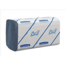 Полотенца для рук в пачках Scott Perfomance Airflex®, 212 листов, 22 х 32 х 10,5 см, 1 слой, голубые (V / ZZ-сложение) (15 шт/упак), арт. 6660