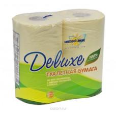 Туалетная бумага «Мягкий знак» «Delux » 4шт., 2-сл. Желтая, арт. 2419