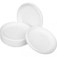 Тарелка одноразовая 165 мм белая ПС (100 шт/упак)