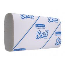 Полотенца для рук в пачках Scott Compact, 110 листов, 19 х 30 х 5 см, 1 слой (W-сложение) (16 шт/упак), арт. 5856