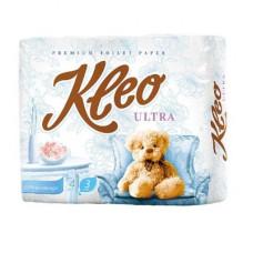 Туалетная бумага «Kleo Ultra» 4, 3сл., белая    (18 шт/упак), арт. 2936