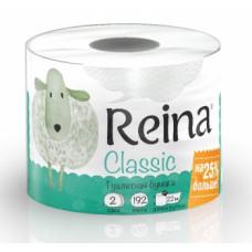 Туалетная бумага «Reina» 4, 2-сл. Белая (12 шт/упак), арт. 2921
