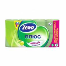 Туалетная бумага «Zewa Плюс» 8 рул., 2-х сл., Яблоко, зеленая, арт. 2654