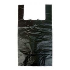 Пакет Майка 30*60 черный,белый ПНД 16 мкм, ука (100 шт/упак)
