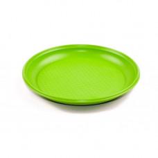 Тарелка одноразовая 205 мм ПП без секций зеленая (50 шт/упак)