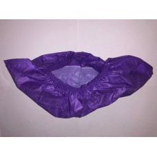 Бахилы EleGreen ламинированные VIP бело-фиолетовые, 9 гр/шт (100 шт/упак)