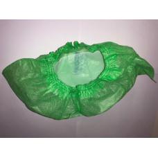 Бахилы EleGreen ламинированные VIP бело-зеленые, 100 шт.
