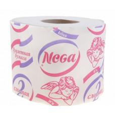 Туалетная бумага «НЕГА» 1  2-х слойная, белая           (48 шт/упак), арт. 1123