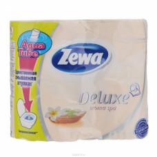Туалетная бумага «Zewa Delux» 4 рул., 3-х сл., желтая.  Арома Спа., арт. 2143